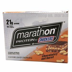Snickers Marathon Protein Bar, Chocolately Nut Burst, 12 ea