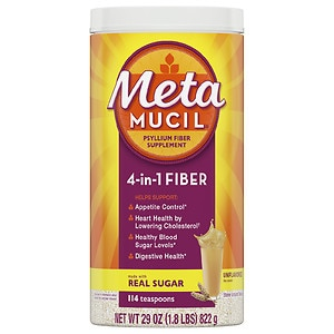 Metamucil MultiHealth Fiber Texture Powder Supplement, Orange Coarse