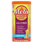 Metamucil Smooth Sugar Free Powder, 114 Teaspoons, Orange- 23.3 oz