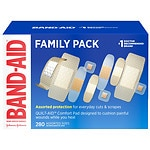 Band-Aid Adhesive Bandages Variety Pack, Assorted Sizes- 280 ea
