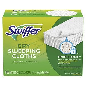 Swiffer Sweeper Dry Pad Refills, Unscented- 16 ea