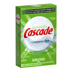Cascade Dishwasher Detergent Powder with the Grease Fighting Power of Dawn, Fresh Scent