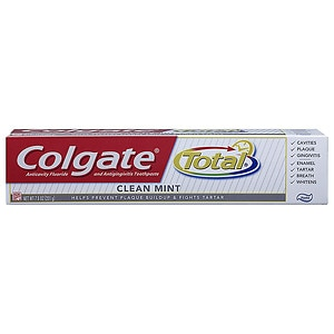 Colgate Total Anticavity Fluoride and Antigingivitis Toothpaste, Clean Mint- 7.8 oz