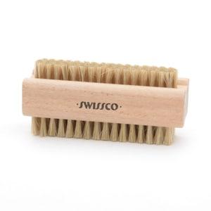 Swissco Wooden Natural Bristle Nail Brush- 1 ea