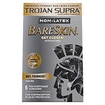 Trojan Supra Lubricated Premium Condoms, MicroSheer Polyurethane, Ultra-Thin