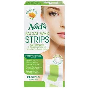 Nad's Facial Wax Strips- 24 ea