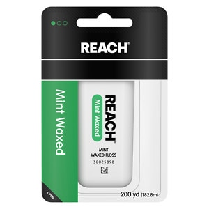 Reach Waxed Dental Floss, Mint- 200 yd