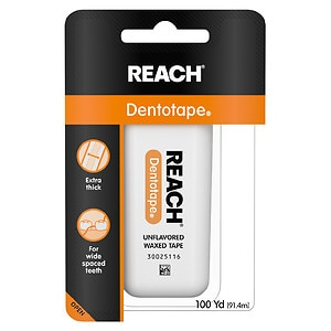 Reach Dentotape Waxed Floss, Unflavored- 100 yd
