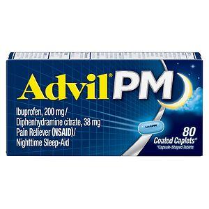 Advil PM Caplets- 80 ea