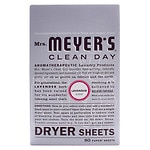 Mrs. Meyer's Clean Day Dryer Sheets, Lavender- 80 ea