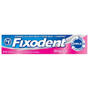 Fixodent Complete Denture Adhesive Cream, Original- 2.4 oz