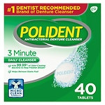 Polident 3 Minute, Antibacterial Denture Cleanser, Triple MInt Freshness