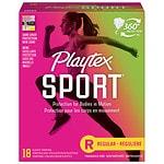 Playtex Sport Tampons, Unscented, Regular, 18 ea- 1 pack