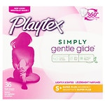 Playtex Gentle Glide 360 Plastic Tampons, Fresh Scent, Super Plus- 36 ea