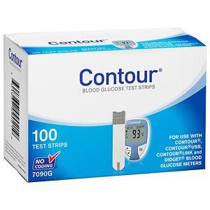 CONTOUR Blood Glucose Test Strips- 100 ea