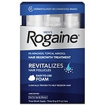 Men's Rogaine Extra Strength 5% Minoxidil Topical Aerosol Hair Regrowth Treatment Foam, 3 Month Supply (each can 2.11 oz / 60 g)