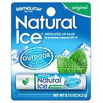 Natural Ice Medicated Lip Protectant/Sunscreen SPF 15, Original- .16 oz