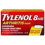 TYLENOL Arthritis Pain Caplets, 8 HR Extended Release Pain Reliever & Fever Reducer- 225 ea