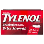TYLENOL Extra Strength Pain Reliever & Fever Reducer, Caplets- 225 ea