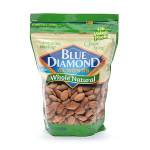 Blue Diamond Almonds, Whole Naural