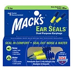 Mack's Ear Seals Earplugs- 1 pr