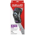 Mueller Sport Care Hinged Knee Brace Regular, Model 6431, Black,