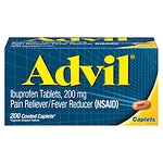 Advil Advanced Medicine for Pain, 200mg, Caplets- 200 ea
