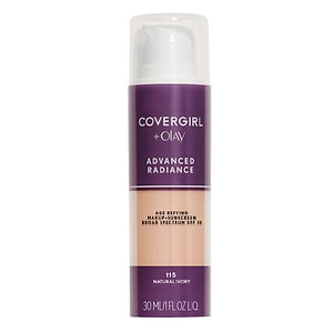 CoverGirl Advanced Radiance SPF 10 Age-Defying Liquid Makeup Sunscreen, Natural Ivory 115- 1 oz