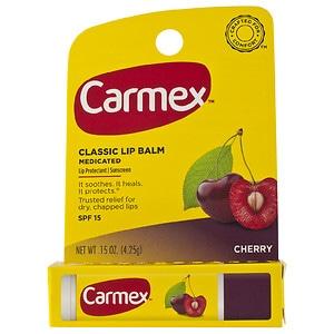 Carmex Everyday Protecting Lip Balm Stick SPF 15, Cherry, .15 oz