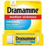Dramamine Motion Sickness Relief, Original Formula, Tablets- 12 ea