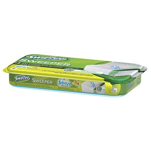 Swiffer Sweeper 12 Wet Mopping Cloths Refills With Febreze