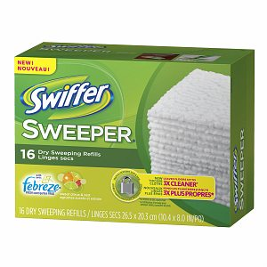 Swiffer Sweeper Dry Sweeping Cloths with Febreze, Sweet Citrus&Zest, 16 ea