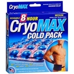 Cryo-Max Cold Pack with Flexible Straps, Reusable, Medium