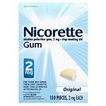 Nicorette Nicotine Gum, 2mg, Original