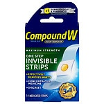 Compound W One Step Invisible Strips Wart Remover