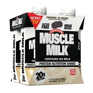CytoSport Muscle Milk Protein Shake, Cookies N Creme, 4 ea