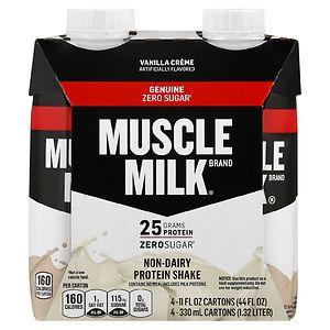 CytoSport Muscle Milk Protein Nutrition Shake, 11 oz Cartons, 4 pk, Vanilla Creme