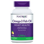 Natrol Omega 3 Fish Oil, 1200mg, Softgels, Lemon