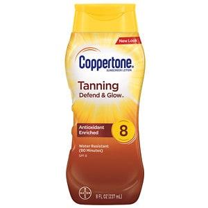 Coppertone Tanning Lotion Sunscreen, SPF 8- 8 fl oz