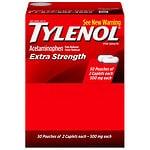 TYLENOL Extra Strength Pain Reliever & Fever Reducer Caplets, 50 pk- 2 ea