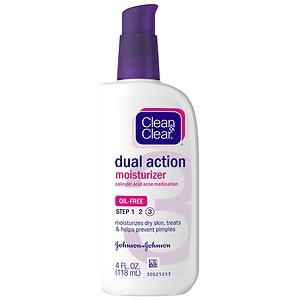 Clean & Clear Oil-Free Dual Action Moisturizer- 4 fl oz