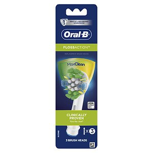 Oral-B Professional Care Floss Action Replacement Electric Toothbrush Head- 3 ea