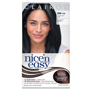 Clairol Nice 'n Easy Color Blend Permanent Hair Color, Natural Blue Black 2BB/124- 1 ea