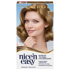Clairol Nice 'n Easy Permanent Hair Color, 7/106A Natural Dark Blonde