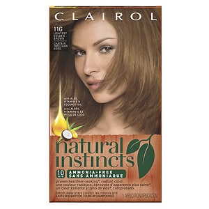 Clairol Natural Instincts Semi-Permanent Hair Color, 6.5G/11G Lightest Golden Brown- 1 ea