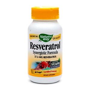 Nature's Way Resveratrol 37.5mg, VCaps, 60 ea