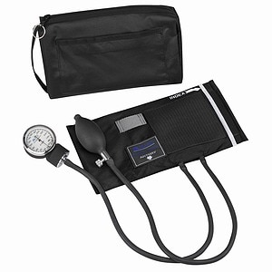 Mabis MatchMates Aneroid Sphygmomanometer Kit - Black, 1 ea
