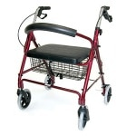Duro-Med Rollator Bariatric Holds Up To 375 lbs, Burgundy- 1 ea