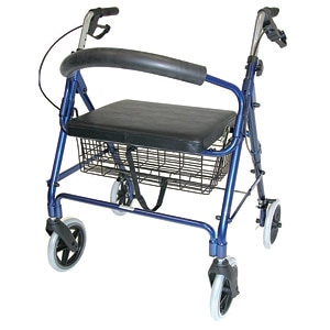 Duro-Med Rollator Bariatric Holds Up To 375 lbs, Royal Blue- 1 ea
