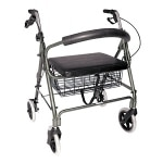 Duro-Med Rollator Bariatric Holds Up To 375 lbs, Titanium